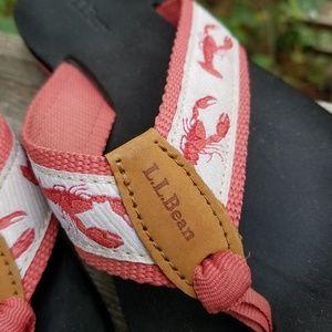 L.L. Bean lobster flip flop sandals. Sz 6